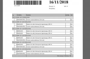 Lista magazynowa - grupowanie po dokumencie
