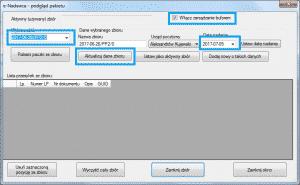 ProstaPaczka SGT - pola zmiany planowanej daty nadania wybranego zbioru
