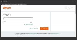 ALLEGRO - okno autoryzacji aplikacji