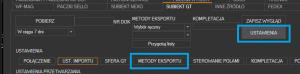 Subiekt GT - otwieranie konfiguracji metod eksportu