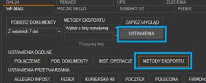 WAPRO Mag - uruchomienie konfiguracji dostępnych kurierów