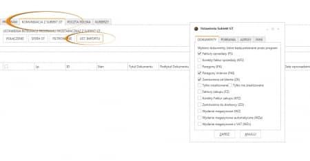 Subiekt GT - konfiguracja pobieranych adresów