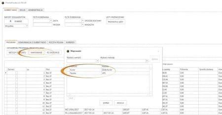 Subiekt nexo - mapowanie sposobu dostawy