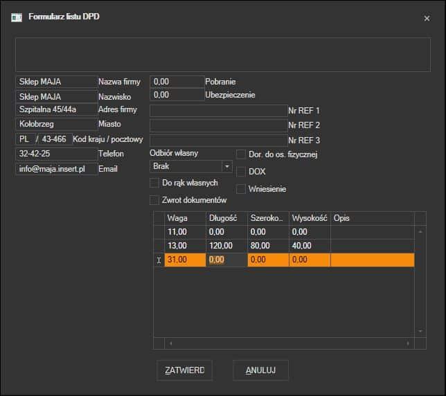 880e3243 Subiekt GT - kurier DPD   ProstaPaczka2   LC Soft