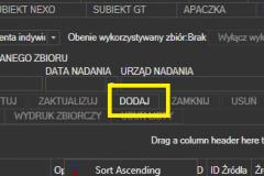 Poczta Polska - dodawanie nowego zbioru