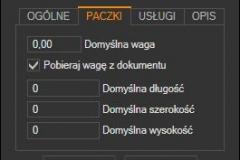 Subiekt GT - domyślne wartości paczki kuriera DPD