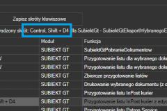 ProstaPaczka2 - administracja - wprowadzanie skrótu