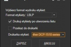 DHL - ustawienia wydruku listu przewozowego