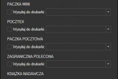 Poczta Polska - ustawienia wydruku nalepek adresowych