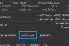 Sello - otwieranie konfiguracji mapowania
