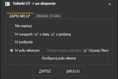 Subiekt GT - akcje po przygotowaniu listu