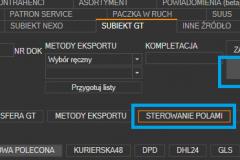 Subiekt GT- otwieranie ustawień automatycznego wyboru kuriera