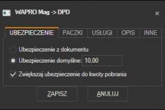 WAPRO Mag - domyślne ubezpieczenie przesykii DPD
