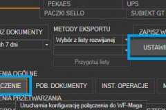 WAPRO Mag - uruchomienie ustawień połączenia