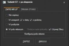 Subiekt GT - zapisywanie numeru listu do Subiekta