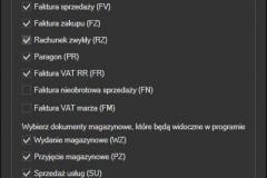 WAPRO Mag - konfiguracja pobieranych dokumentów
